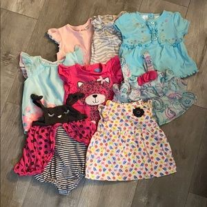 Lot of Eight 3-6 Month Summer/Spring Tops